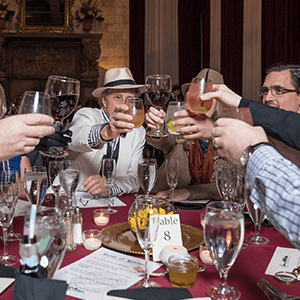 San Jose Murder Mystery guests raise glasses