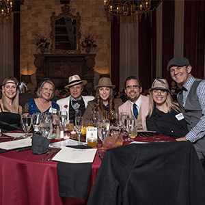 San Jose  Murder Mystery party guests at the table